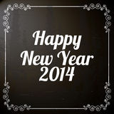 Happy new year 2014. Over black  background  vector illustration Stock Images