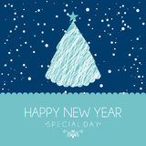 Happy new year 2014. Over sky background  vector illustration Royalty Free Stock Image