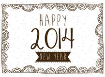 Happy new year 2014. Over white background  illustration Royalty Free Stock Photos