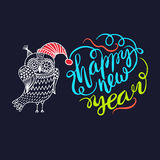 Happy New Year. Owl Royalty Free Stock Images