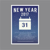 Happy new year page layout for greetings 2017. Countdown Royalty Free Stock Image