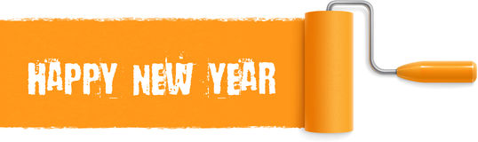 Happy New Year Paint Stroke Royalty Free Stock Image
