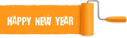 Happy New Year Paint Stroke Royalty Free Stock Image