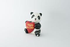 Happy New Year Panda. Isolated Happy New Year Panda Royalty Free Stock Photography