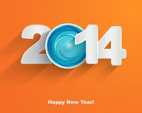 Happy New Year 2014. Paper Stock Images