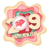 Happy New Year paper art Stock Photos
