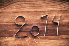 2014 Happy New Year paper digits. Stock Photo