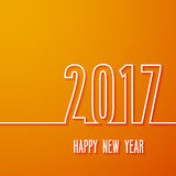 Happy new year 2017 paper postcard. Royalty Free Stock Photos