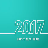 Happy new year 2017 paper postcard. Royalty Free Stock Image