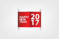 Happy New Year paper scratch Red and white Stock Image