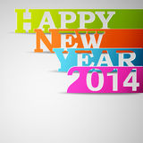 Happy new year 2014 paper strips. Eps10 vector illustration Stock Photos