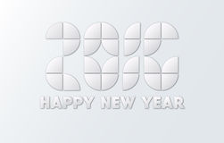 Happy New Year 2016 paper style. Vector Royalty Free Stock Photo
