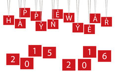 Happy new year 2016. Paper text Royalty Free Stock Image