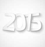 Happy new year 2015 paper text on white background. Vector illustration Stock Photo