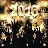 Happy New Year 2016. Party background with firework of the year 2016 royalty free illustration
