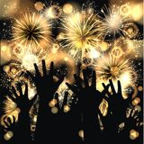 Happy New Year 2016. Party background with firework of the year 2016 Stock Photo