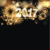 Happy New Year 2017. Party background with firework of the year 2017 Royalty Free Stock Image