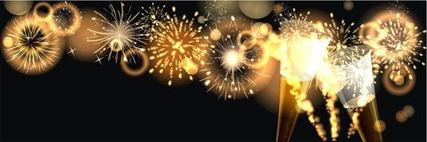 Happy New Year 2017. Party background with firework of the year 2017 Royalty Free Stock Photos