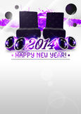 2014 happy new year party background Royalty Free Stock Images