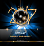 2017 Happy New Year Party Background for your Flyers. And Greetings Card. Ideal for 30st dicember discoteque nighclub events Stock Illustration