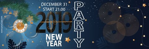 2019 Happy New Year Party Background for your Seasonal Flyers and Greetings Card. Vector illustration vector illustration