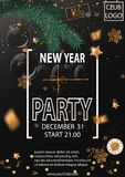 2019 Happy New Year Party Background for your Seasonal Flyers and Greetings Card. Vector illustration royalty free illustration