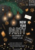 2019 Happy New Year Party Background for your Seasonal Flyers and Greetings Card. Vector illustration stock illustration