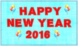 Happy New Year 2016. Party with balloons Royalty Free Stock Photo
