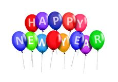 Happy New Year Party Balloons Royalty Free Stock Images