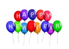 Happy New Year Party Balloons Stock Images
