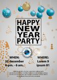 Happy New Year Party 2019 Card for your design. Vector illustration vector illustration