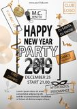 Happy New Year Party 2019 Card for your Party. Vector illustration vector illustration