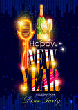 Happy New Year 2017 party celebration poster. Easy to edit vector illustration of Happy New Year 2017 party celebration poster Stock Photo