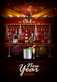 Happy New Year 2017 party celebration poster. Easy to edit vector illustration of Happy New Year 2017 party celebration poster Stock Images