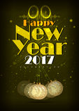 Happy New Year 2017 party celebration poster. Easy to edit vector illustration of Happy New Year 2017 party celebration poster Royalty Free Stock Photos