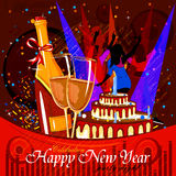 Happy New Year 2017 party celebration poster. Easy to edit vector illustration of Happy New Year 2017 party celebration poster Royalty Free Stock Images