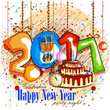 Happy New Year 2017 party celebration poster Stock Images