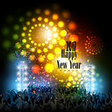 Happy New Year 2017 party celebration poster. Easy to edit vector illustration of Happy New Year 2017 disco party celebration poster Stock Photos