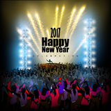 Happy New Year 2017 party celebration poster Royalty Free Stock Image