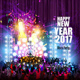 Happy New Year 2017 party celebration poster Royalty Free Stock Photo