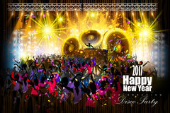 Happy New Year 2017 party celebration poster. Easy to edit vector illustration of Happy New Year 2017 disco party celebration poster Royalty Free Stock Image