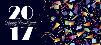 Happy New Year 2017 party celebration web header Stock Photo