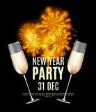 Happy New Year Party 31 December Poster Vector Illustration. EPS10 Stock Images