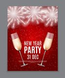 Happy New Year Party 31 December Poster Vector Illustration. EPS10 Stock Photos