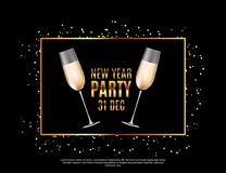 Happy New Year Party 31 December Poster Vector Illustration. EPS10 Stock Image
