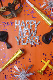 Happy New Year Party Decorations Royalty Free Stock Photo