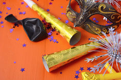 Happy New Year Party Decorations Stock Photography