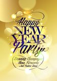 Happy new Year party design. Happy new Year party design gold bokeh Stock Photos