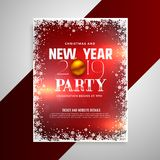 Happy new year party flyer design template. Vector vector illustration