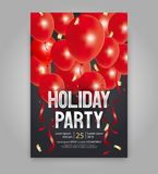 Happy new year party invitation flyer and greeting card  template. Vector illustration  design for holiday party and happy new year party invitation flyer and Stock Images